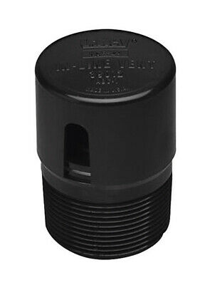 Oatey In-Line Vent Black Plastic Pack 1