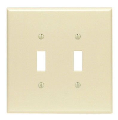 Leviton Toggle Wall Plate Thermoset Plastic 2 Gang Ivory Csa Bulk