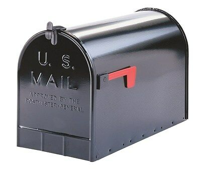 "Solar Group Rural Mailbox 23-1/2"" L X 11-1/2""W X 15"" H T3 Black"