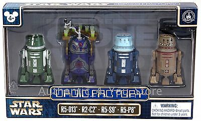 Star Wars Celebration Disney Parks Droid Factory 4 Pack R5-013 R2-C2 R5-S9 R5-P8