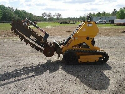 2011 BOXER 118 Ride On / Stand On Behind Crawler Trencher on Tracks, Low Hours