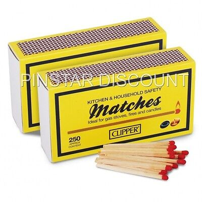 12  BOXES Clipper 55MM  Wooden Safety Matches~BBQ~OPEN FIRES~-APPROX 250 PER BOX