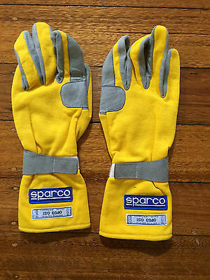 Sparco Nomex Yellow Gloves Fia Approved Size 10(Medium)