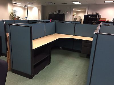 """6ft x 8ft x 50""""H CUBICLES / PARTITIONS by HAWORTH OFFICE FURNITURE"""