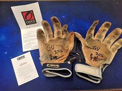 2016 Onyx Jalen Miller Signed  Autographed Game Used Batting gloves x2 W/COA