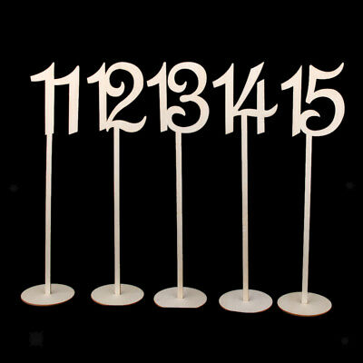 Unfinished MDF Wooden Table Numbers 1-20 with Base Wedding Party Decor