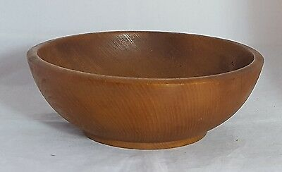 Beautiful Vintage Wooden Bowl Diameter 28.5 cm