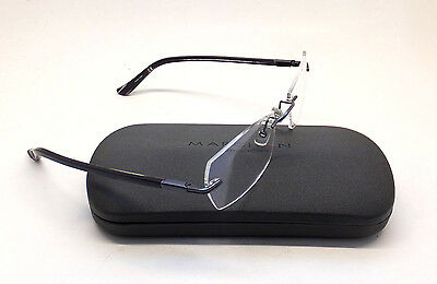 Marchon Airlock Triumph 205 Men Women Eyeglasses Eyewear DEMO Lens Rimless BE2