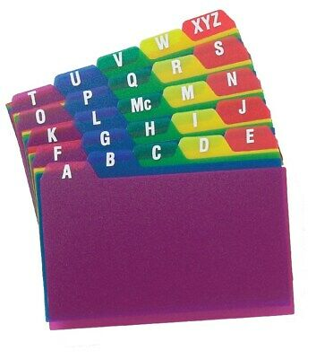 "Oxford 73153 3"" x 5"" A To Z Poly Index Card Guides"