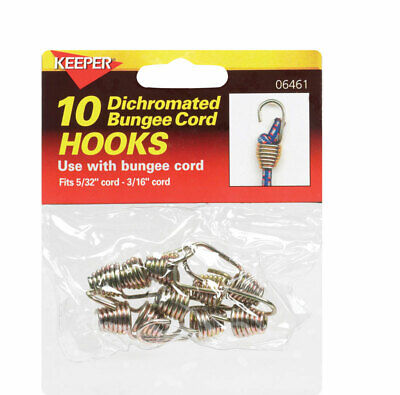 Keeper Corporation Bungee Cord Hooks Bagged 10 / Pack