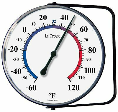 "LaCrosse Technology 104-105 5"" Dial Thermometer With Mounting Bracket"