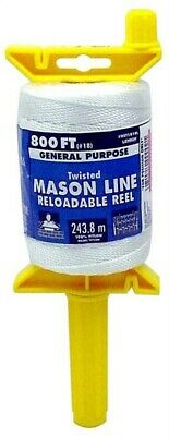 Lehigh Group NST181RL 800' Gold Twisted Mason Line On Reloadable Reel