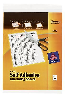 "Avery 73603 9"" X 12"" Self-Adhesive Laminating Sheets 10 Count"
