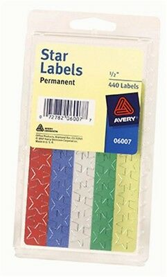 "Avery 06007 5/8"" Colored Star Labels - PK 6"