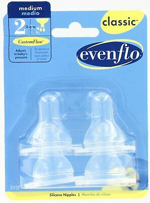 Even Flo Best For Baby 2115214 Classic™ Medium Flow Clear Silicone Nipples