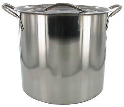 Good Cook 06180 8 Quart Brushed Stainless Steel Stock Pot