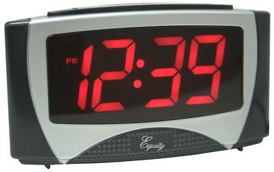 Equity 30029 Large White LED Alarm Clock With Night Light