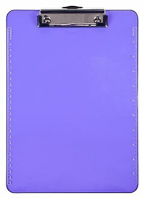 Charles Leonard Inc. 89760 Letter Size Neon Purple Clipboard With Low Profile Cl