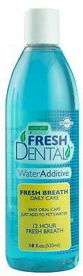 Fresh Dental 330078 18 Oz Fresh Dental Water Additive For Cats & Dogs