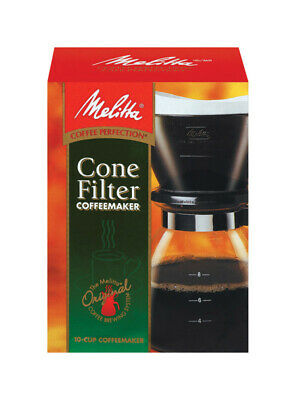 Melitta Cone Filter Gourmet Coffeemaker Manual Drip 10 Cup