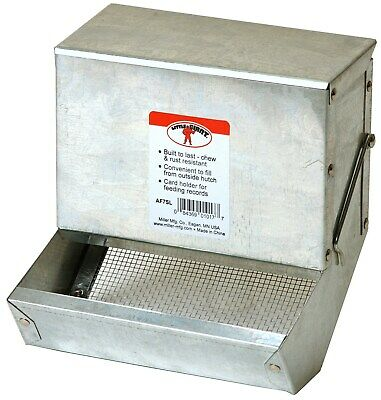 "Little Giant Farm & Ag AF7SL 7"" Galvanized Rabbit Feeder"