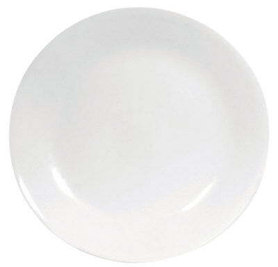 "Corelle Winter Frost Plates White Dinner 10-1/4"" Dia. Pack of 6"