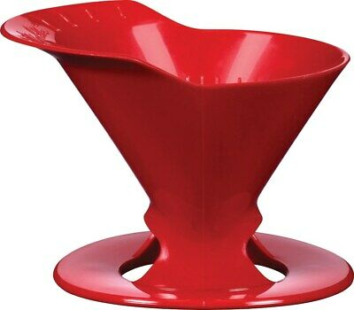 Melitta 64008 1 Cup Red Pour-Over Coffee Brewer