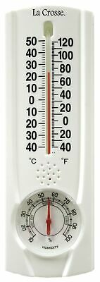 "LaCrosse Technology 204-109 8.75"" Tube Thermometer With Hygrometer & Key Hider"