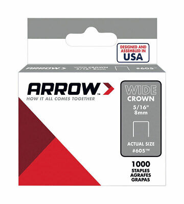 "Arrow Fastener 60530 5/16"" Wide Crown Heavy Duty Staples"