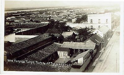 Real photographic postcard of Tampico Tamps - photo by JF Tannenberger
