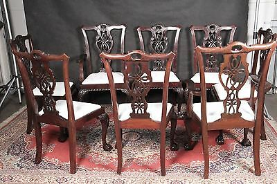 Chippendale Chair Eight Drop Seat  NEW Brocade Reupholstered  2 master 4 sides