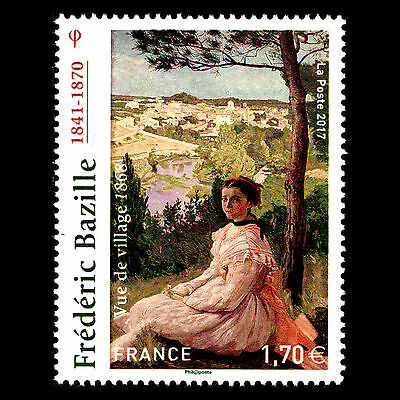 """France 2017 - Paintings """"Frederic Bazille"""" Art - Sc 5181 MNH"""