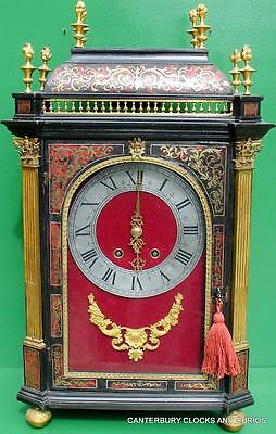 ANTIQUE 1780c FRENCH EBONISED JEROME MARTINET PARIS 8 DAY BOULLE BRACKET CLOCK