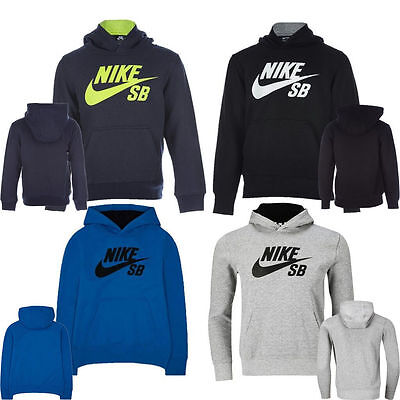 New Nike Boys Junior Kids SB Hodie Hooded Sweatshirt Fleece Top Tracksuit 3-15