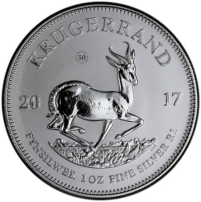 2017 Krugerrand 50th Anniversary One Oz .999 Silver Coin : HISTORIC OPPORTUNITY