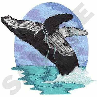 """Humpback Whale, Marine, Nautical Embroidered Patch 7.9""""x 7.9"""""""
