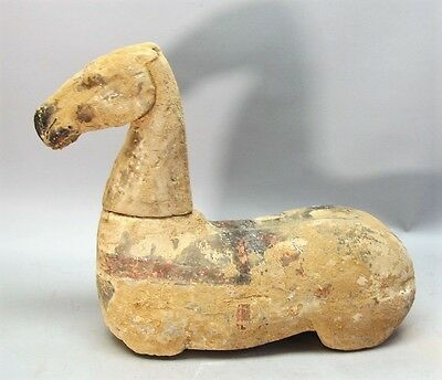 "Large 17"" Ancient Han Dynasty CHINESE EARTHENWARE Horse Funerary Sculpture"