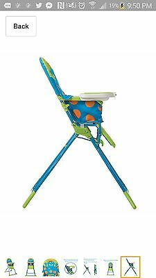 Cosco Simple Fold Deluxe High Chair, Monster Syd Feeding Cair Baby Infant