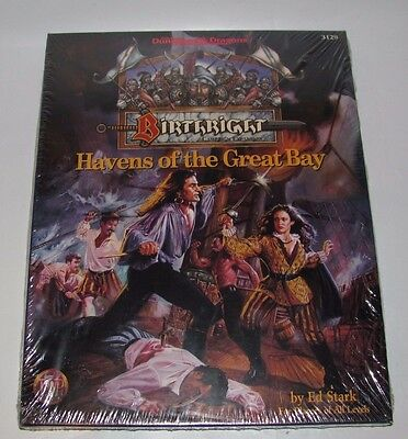 Advanced D&d Dungeons & Dragons Birthright Havens Of The Great Bay New Sealed
