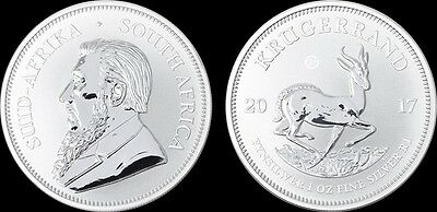 2017 Silver Krugerrand - 1oz Gem Premium Uncirculated - South Africa - IN HAND