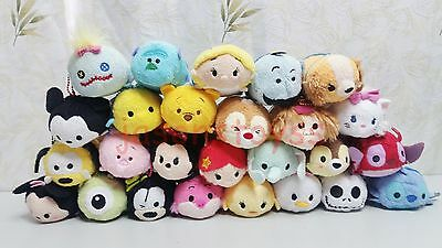 170 Disney TSUM Eeyore Mickey Winnie Stitch Mini Plush Soft Toys Doll With Chain