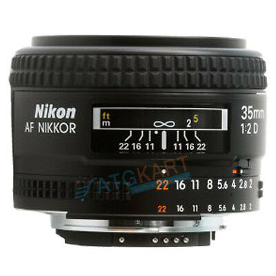 Brand New Nikon AF Nikkor 35mm f/2D Black Lens