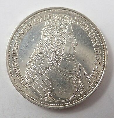 Germany 1955G Silver 5 Mark Coin - 300Th Anniversary  Birth Of Ludwig Von Baden