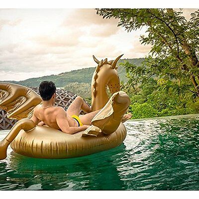 Pool float inflatable Giant Golden Dragon Swimming Lounge Toy for Adults & Kids