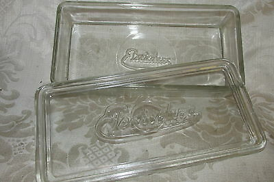 Antique ELECTROLUX Glass Lidded Dish / Container Cottage Decor Kitchenalia 24CmL