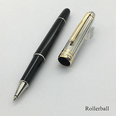 Luxury Pen MT Ag 925 High Quality Silver Rollerball Gold Clip With Serial Number