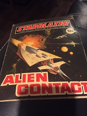The Alien Contact Starblazer Space Fiction Adventure In Pictures,no.26 Comic