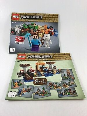 Lego Minecraft - Crafting Box - 21116 - Instruction Books Only