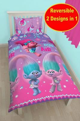 Latest Kids Disney And Character Double Duvet Cover Sets -Trolls New In