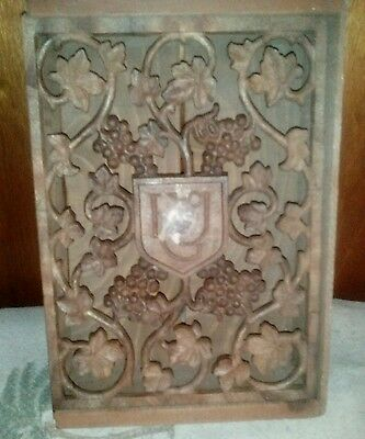 Cellars of Ernest Julio Gallo Carved Wood Wine Box (emblem missing for parts)